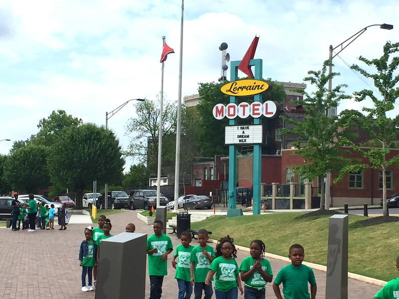 School field trip to the National Civil Rights Museum in Memphis, Tennessee. Photo Credit: Tom Wilmer