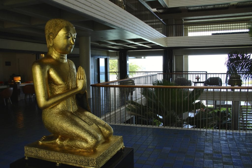Tranquility envelops the spirit upon entering the Mauna Kea's guest check-in reception area
