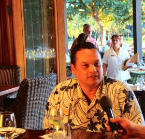 Wendle Lesher Director of Food & Beverage at the Mauna Kea Resort and neighboring Hapuna Resort