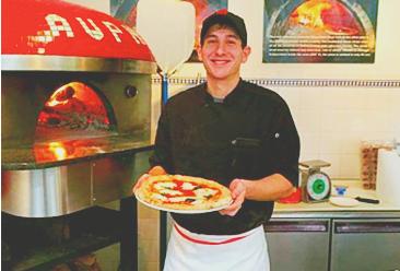 Pete Murdoca in the kitchen at Pietro's in Lodi California