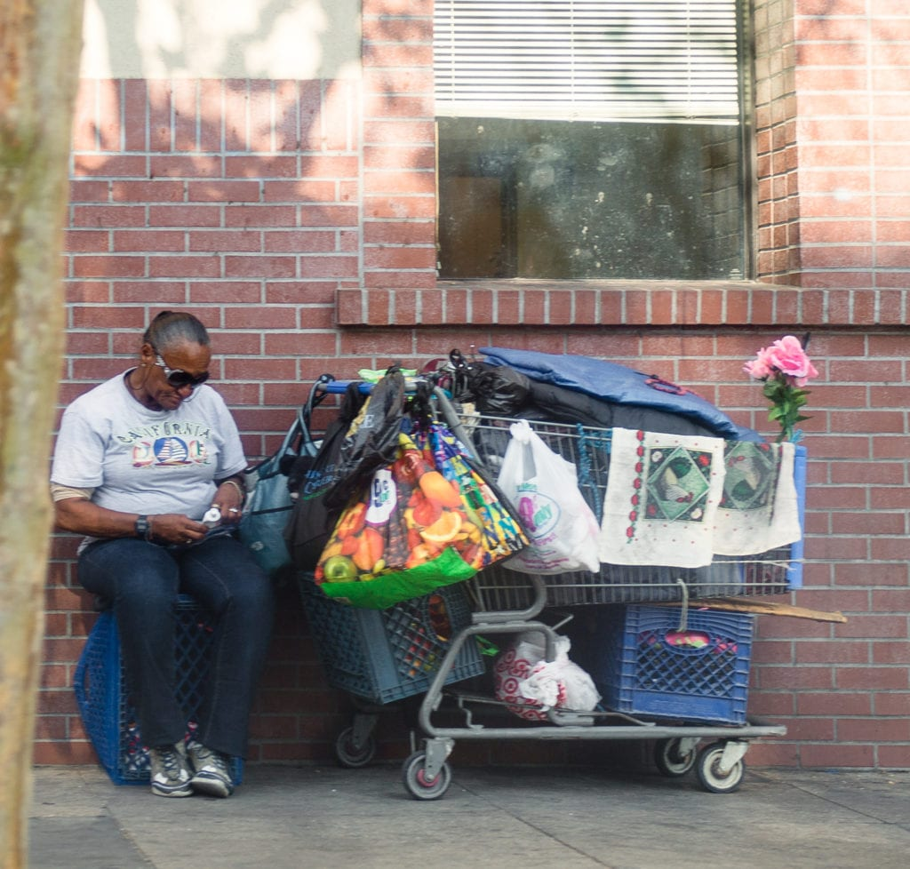 Skid Row Los Angeles home to more than 2,000 homeless. Photo Credit: Jimmy Cheng