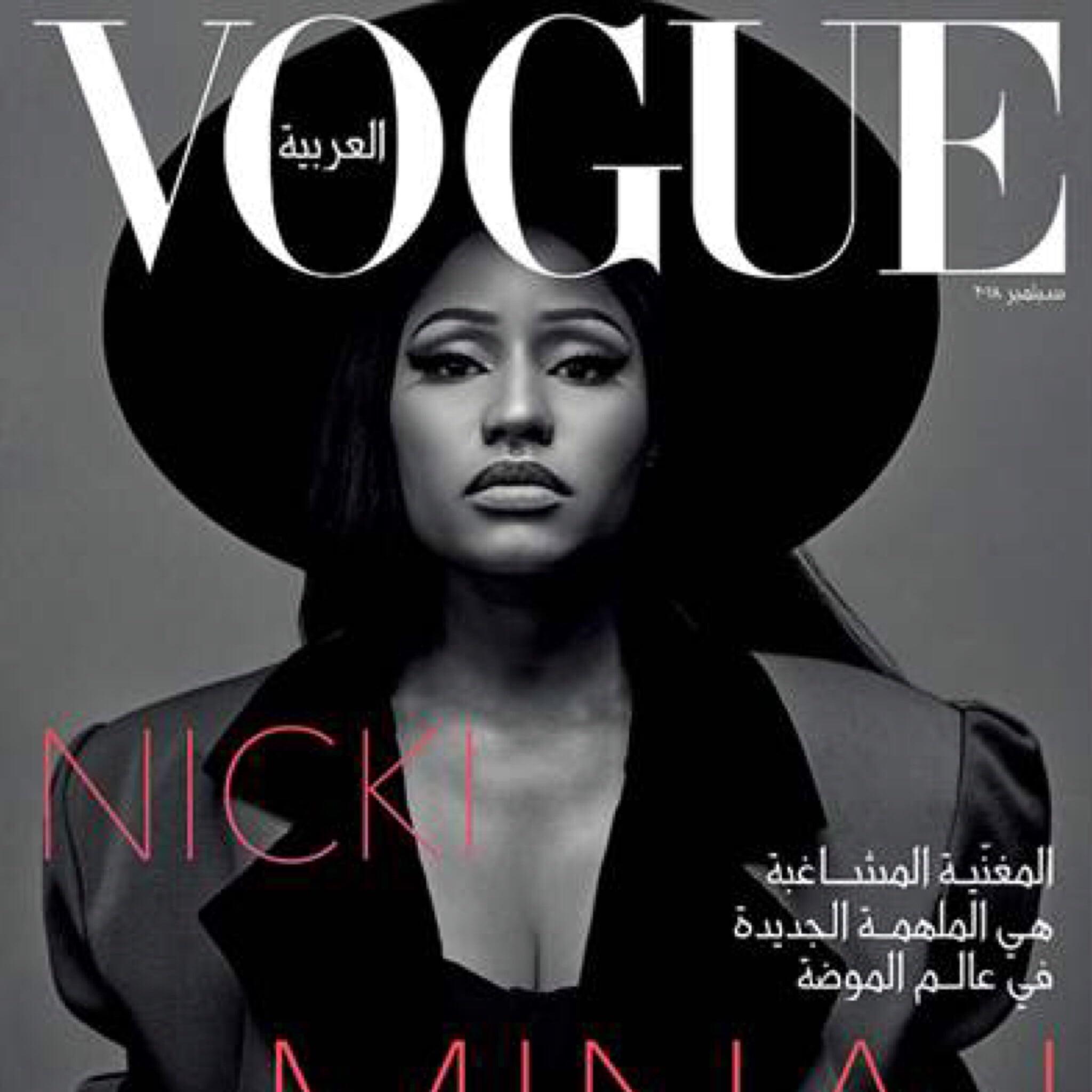 Nicki Minaj × Vogue Arabia - 360 MAGAZINE  fc3e6e913