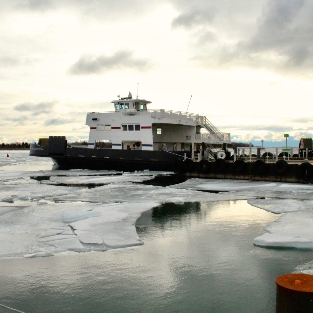 Washington Island Ferry wintertime