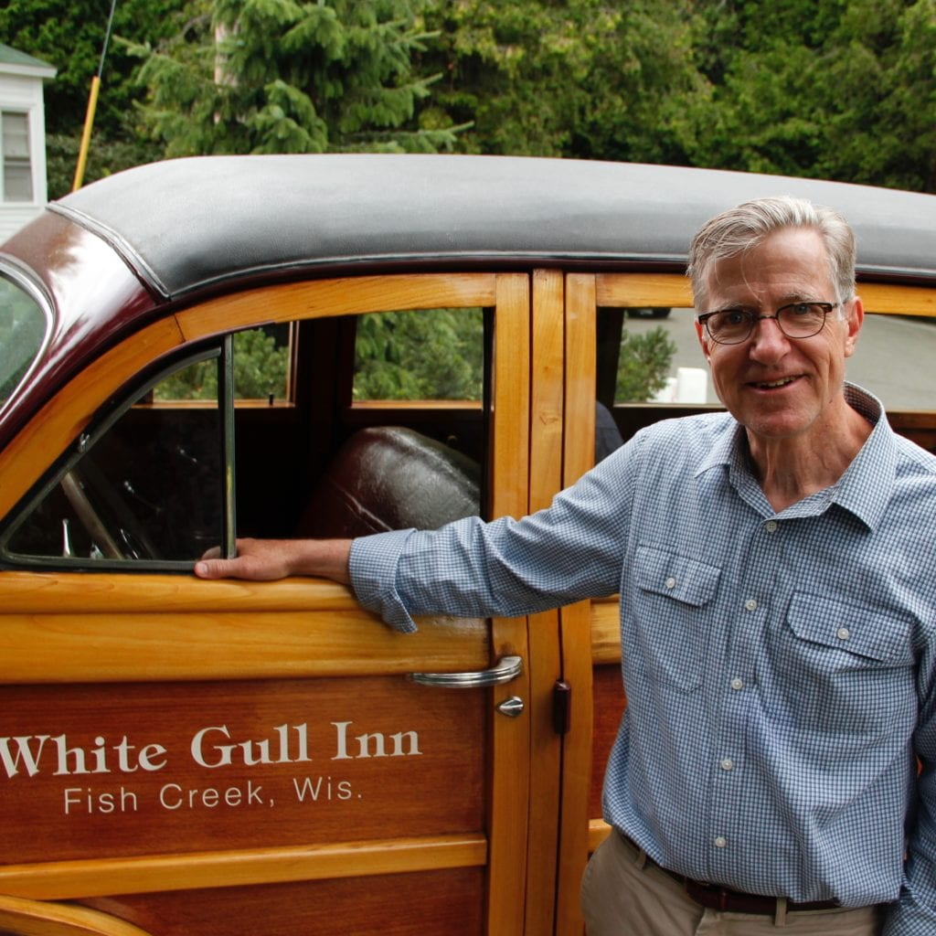 White Gull Inn Innkeeper with his woodie