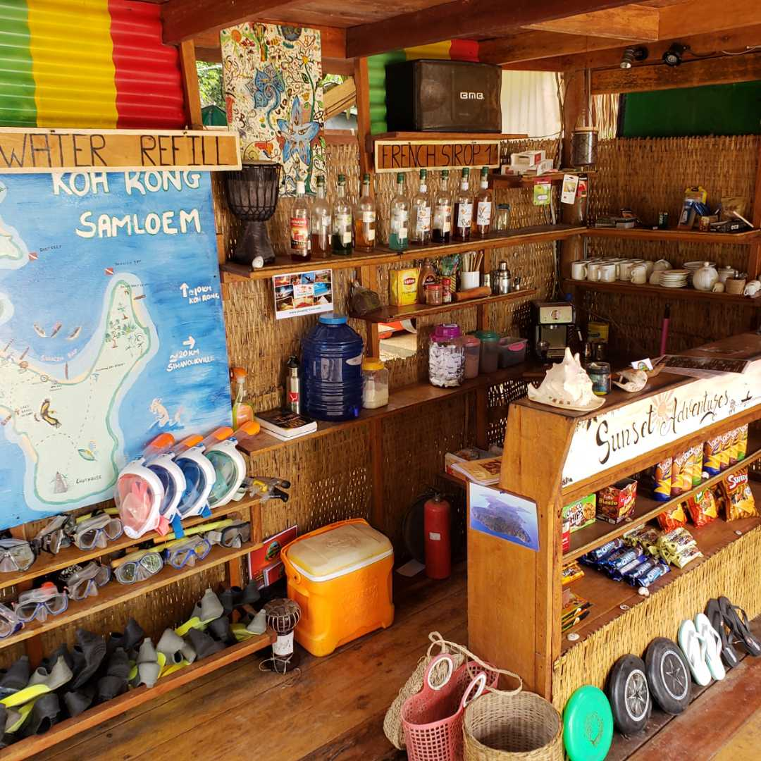 Sunset adventures dive shop on sunset beach,  koh rong samloem,  Cambodia,  360 MAGAZINE