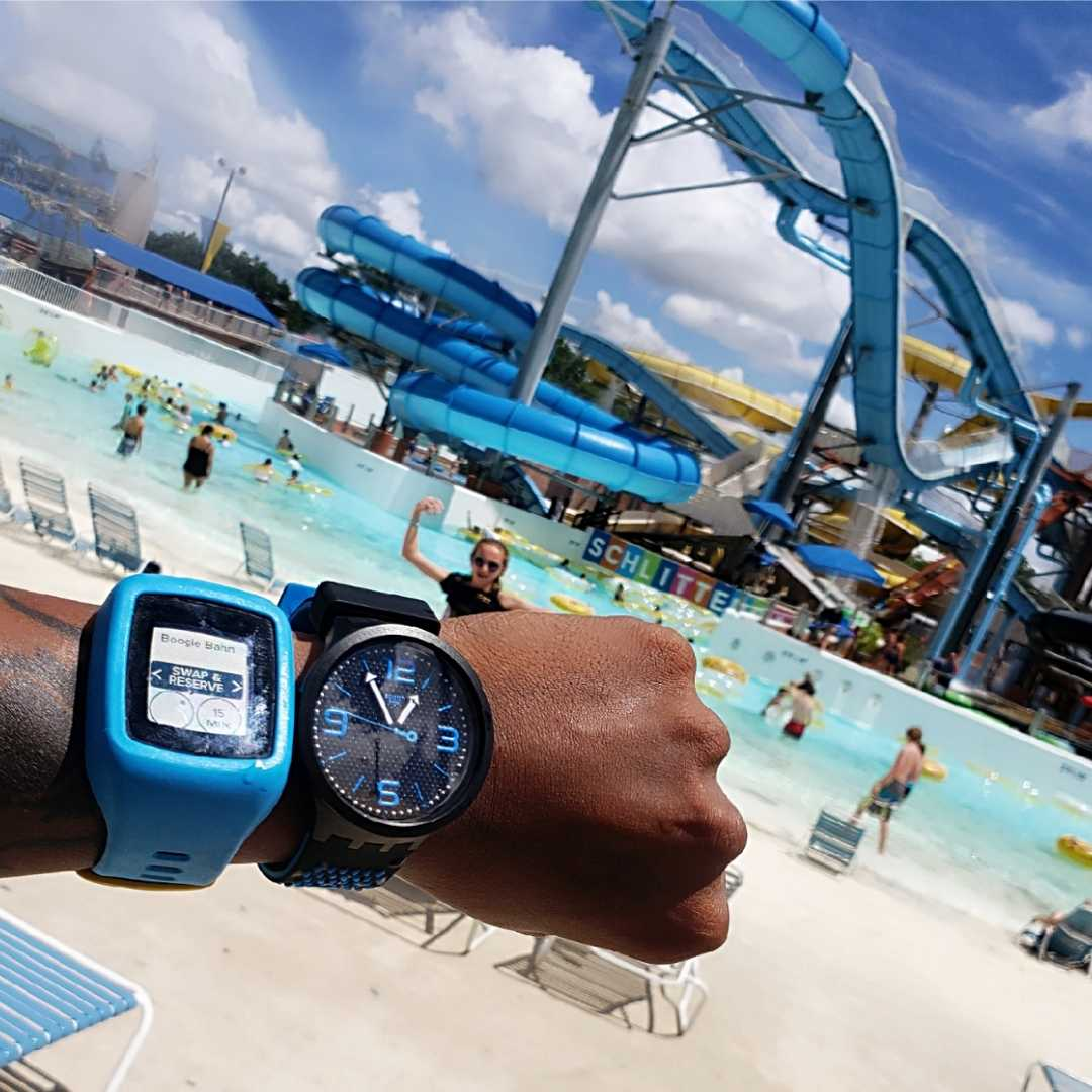 Schlitterbahn, new Braunfels, Vaughn Lowery, 360 MAGAZINE , swatch watches, unisex