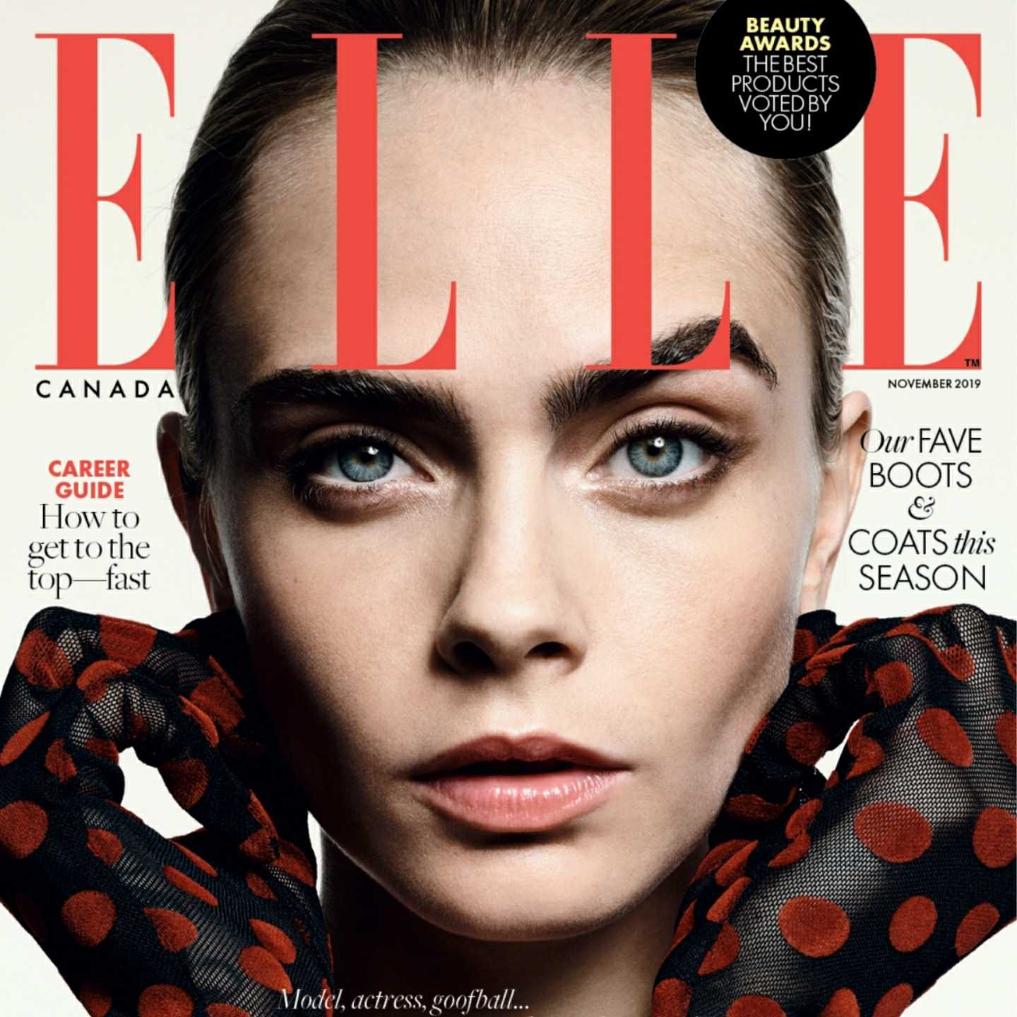 Cara Delevingne,Karl Lagerfeld,ELLE CANADA,KO MÉDIA,Hearst Magazines, uk, storm management, British fashion awards, supermodel, singer, 360 MAGAZINE