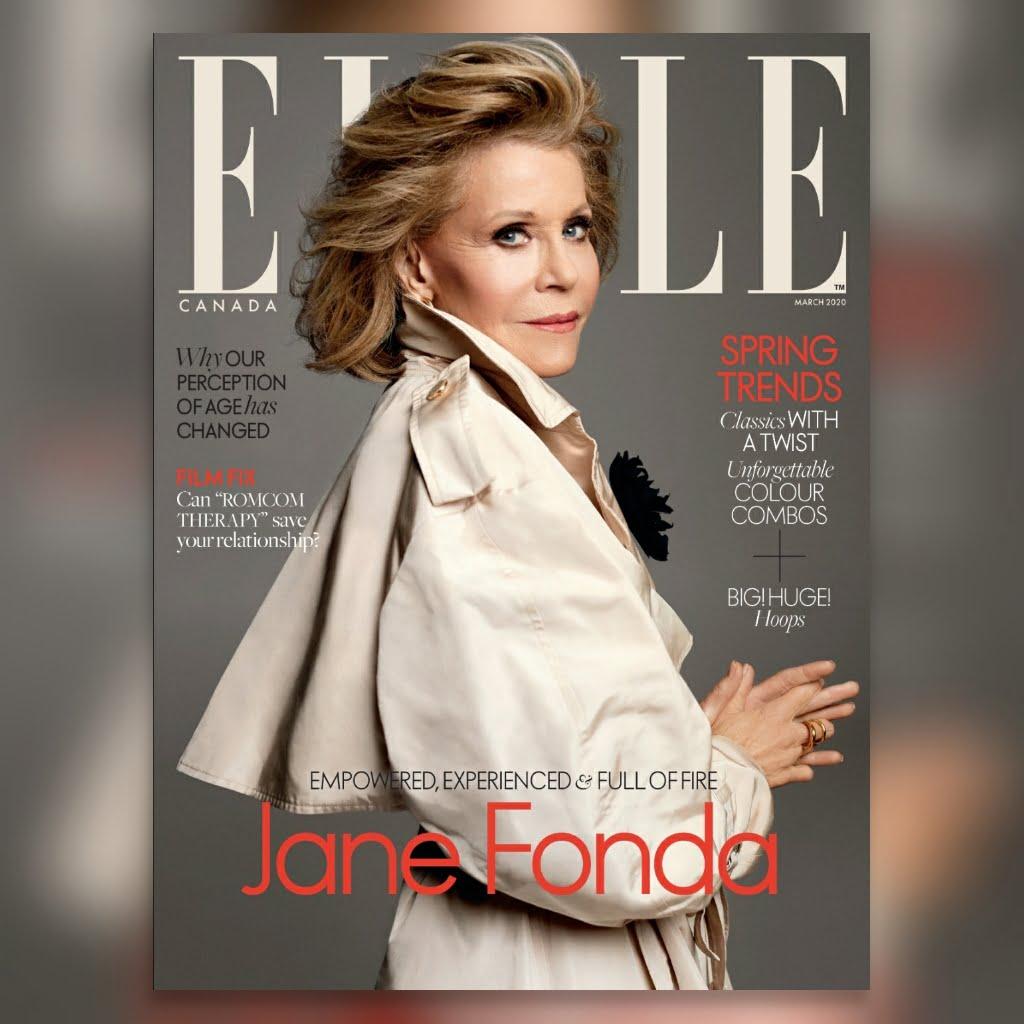 Jane Fonda, 360 MAGAZINE, elle magazine